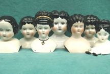 Vintage Doll Heads / Love collecting these!