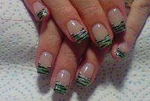 Zebra Stripes Pattern Black Mint Green Glitter