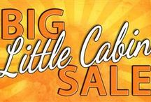 Big Little Cabin Sale / Little Log Cabins, Great Big Savings, ALL NEW Packaging!  We know cabins! And we know savings! Introducing the BIG Little Cabin Sale from Natural Element Homes! These little cabin plans are coupled with a BIG NEW super-complete package and a BIG honkin' discount to make your BIG little cabin dreams a BIG reality! THIS IS BIG! (and little too)! / by Natural Element Homes