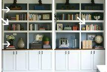 book shelves sitting room