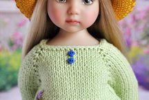 muñeca con vestidos derochet