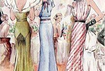 Dibujos de Dior y otros diseñadores