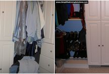 Organizing Your Closet / Organizing ideas for your closet, including before and after pictures from our client work.