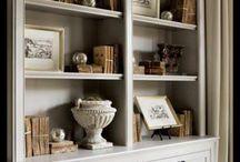 Bookcases arount mantle