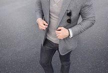 серый мужской образ