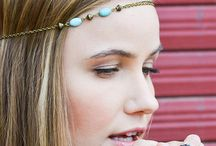 turquoise head band