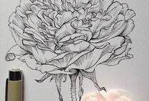 rosaspara rotis o tinta china