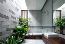 Banheiros com paisagismo