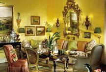 Yellow / House decoration , yellow room