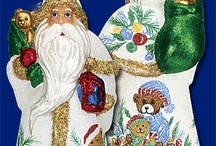 """Father Christmas / Choose 1 or collect all of the """"Father Christmas"""" cards and glass ornaments by Old World Christmas."""