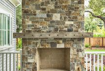 Outdoor Fireplace / Ideas for using stone or brick on a fireplace