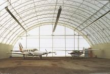 Industrial Buildings / Accu-Steel industrial fabric buildings and fabric roof structures are an ideal choice for virtually any industrial building need including commercial storage, aviation storage, and military needs.