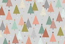 Scandi Christmas Modern Metallics / Modern metallic bauble, tree and star designs available in traditional red, green and cream or an alternative cool grey and pastels. Coordinating dotty design completes collection.