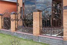 Заборы кованые (forged fences)
