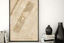 ~ City maps ~ Vintage style city map prints: Oldtimes