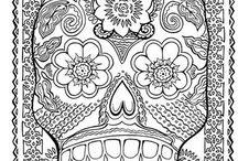 tête de mort , squelette /death's head , skeleton / https://www.facebook.com/Les-colos-de-kiki-780034588779254/