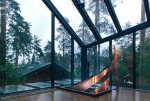 architecture en décor naturel