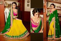 Designer Lehnga Saree / Latest Designer Lehnga cum saree
