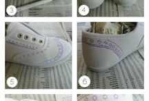 chalk paint shoes