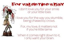 Zombie valentines from The Zombie Dating Guide. zombiedatingguide.com