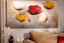 Arte flores abstractas