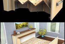 szafy, biurka, łóżka, ozdoby
