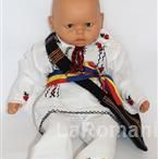 Romanian traditional costume for baby, handmade 100%