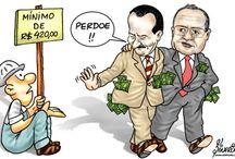 Brasil (Salário) / Charges, frases e quadros sobre o salário no Brasil.