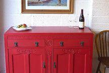 Red Stripe - Autentico Vintage Chalk Paint