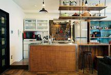 木キッチン天板