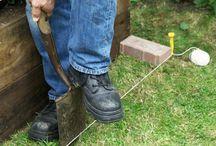 install a strip of bricks
