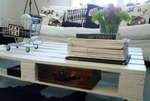 Huisinrichting  / Pallet salon tafel