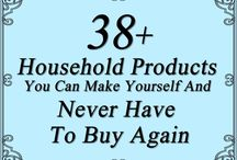 Homemade:- Household Products / Info on how to make your own cleaning products, make up, etc