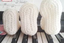 Scarpine - baby booties / baby booties - wool - cotton - crochet - knit - fashion - handmade - NikkaCraft - scarpine neonati - lana - cotone - uncinetto - ferri - fatto a mano