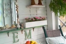 """our screened porch through the years.  This photo was chosen by HGTV """"porches we love"""" one of twelve."""