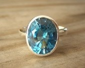 Blue Topaz Ring Setting Ideas / Have a beautiful blue topaz ring I inherited from my Grandma. Would like to have the stone reset in a modern setting. This is ideas  / by AuntieTL AuntieTL
