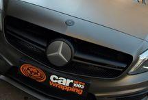 Mercedes A45 AMG que venía en Gris Mate y se fué Mate impreso! by Pronto Rotulo / by Pronto Rotulo