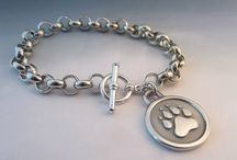 Silver Paw Jewelry / Quality, handcrafted jewelry in sterling and silver finish, designed for the Dog and Horse enthusiast. Made in Maine. Find all our Dog and Horse themed jewelry on www.etsy.com/shop/flakeyfarmgirl.