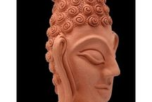 Indian Artist's Sculptures / Decorate your home with these handcrafted sculpture in stoneware, ceramics, fibre, glass and stone available on www.artbugs.in