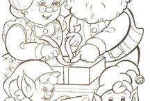 Jule / vinter tegninger