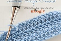 Twisted single crochet.