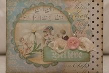 Cards-layered, vintage / by Denette Stoll