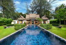 DoublePool Villas by Banyan Tree, Thailand / DoublePool Villas is one of those resorts where it is the accommodation experience rather than the destination, that is the reason for your holiday. There are just 24 private luxury villas available, each with their own personal host on call 24 hours a day.  Surrounded by a wading pool, the bedroom sits central to the villa with direct pool access from the foot of the bed to give a sense that the bed is floating.  Need we say more!