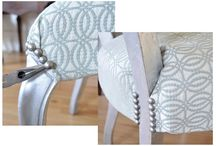 Upholstery / A fun way to create pop in a room.