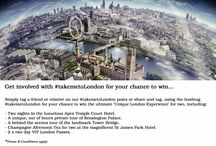#takemetoLondon / I want _____________ to #takemetoLondon  Tell us who you want to visit London with this year for your chance to win a 'Unique London Experience' including 2 nights in the luxurious Apex Temple Court Hotel, Champagne Afternoon Tea at St James's Hotel & Club, an out of hours private tour of Kensington Palace and an exclusive behind the scenes tour of the famous Tower Bridge!  Share this post (or future #takemetoLondon posts), tag friend(s)/relative(s) and you'll be entered… *T&C's apply.  / by London Pass