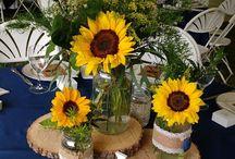 Sunflower table decor