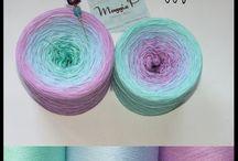 gradient yarns