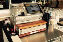 Vintage Style Kasse GASTROFIX / Absolut modern iPad Cash Register System GASTROFIX integrated in Vintage Style Till