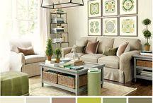 Salón color verde