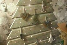Árboles navidad madera